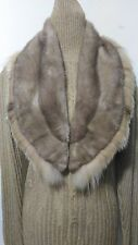 New design 100% real lynx with blue sapphire mink   fur scarf big collar