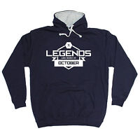 LEGENDS ARE BORN IN OCTOBER HOODIE month hoody funny birthday gift 123t present