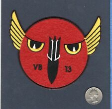 VB-13 HOOT OWLS WW2 US NAVY SB2C HELLDIVER Squadron Jacket Patch VAH-9 RVAH-9