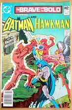 the BRAVE and the BOLD #164 BATMAN and HAWKMAN (1980 DC Comics) ~ VF Comic Book
