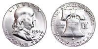 1954-S Franklin Half Dollar Brilliant Uncirculated- BU