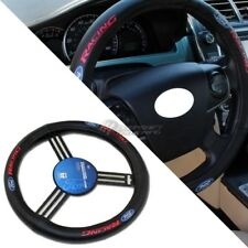 Pilot Automotive Ford RACING Black Leather Genuine Steering Wheel Cover - SW121