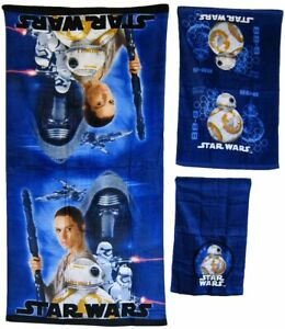 Star Wars 3-piece Bath Hand Fingertip Towel Set Beach Pool Child Gift NEW