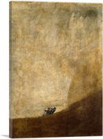 ARTCANVAS The Dog 1823 Canvas Art Print by Francisco De Goya