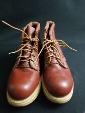 Vibram Reddish brown  steel toe Leather Work Boots Men's Size 8 VIBRAM