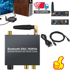 192kHz DAC Converter Digital to Analog with Bluetooth Receiver+ Optical Cable US