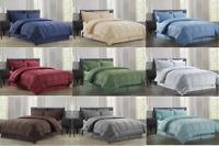 8 Piece Comforter Set Bed In A Bag Vine-Embossed™ Sheet Bed Skirt Sham Comforter