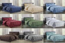 "8 Piece Comforter Set Bed In A Bag Vine-Embossedâ""¢ Sheet Bed Skirt Sham Comforter"