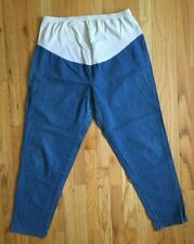 TAKE NINE Maternity Cotton Denim Blue Jeans Size XL Sz 16-18 Straight Leg