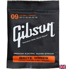 Electric Guitar Strings Gibson Brite Wires Ultra Lights 9-42