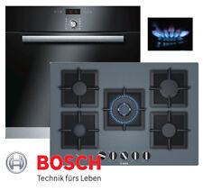Gas Herdset Bosch Autark Selbstreinigung Backofen + Gas Kochfeld Glaskeramik 75