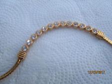 Swarovski Choker Gold-tone with a nice inlaid row of Sparkly Rhinestones - Nice