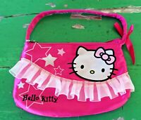 RARE Girls Hello Kitty Hot Pink Satin Purse, Lined, Sanrio