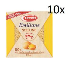 10x Barilla Emiliane Stelline all'uovo n. 108 Nudeln mit ei 275g