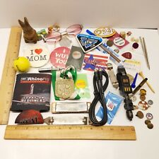 New listing Vintage & New Junk Drawer Lot Cigar Box Glasses Buttons Harmonica Ball +More D-3
