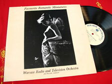JAN PRUSZAK Warsaw Radio & TV Orchestra ROMANTIC MINIATURES Polish LP NM 1989