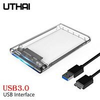 "UTHAI USB3.0 HDD 2.5"" SATA 5Gbps External Hard Drive Enclosure transparent Case"