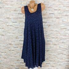 MADE IN ITALY Hängerchen Kleid Sommerkleid Blümchen Mille Fleur marine 40-44