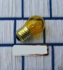 7 &1/2 Watt S11 clear transparent Yellow tint 7.5S11 sign Light Bulb 7.5w medium