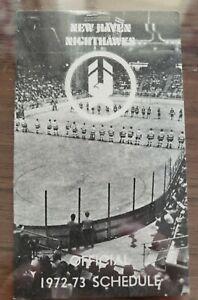 1972-73 New Haven Nighthawks AHL HOCKEY Pocket Schedule American League EX/M
