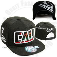 California CALI Republic Baseball Cap Bear Snap back Hat Flat Bill Colors Hats