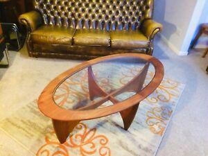 Mid Century Danish Style G Plan Astro Oval Coffee Table (Retro)