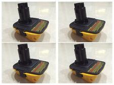 4PCS Dewalt DCA1820 Cordless Tool Battery for 18 to 20 Volt Converter Adapter