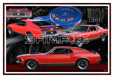 1970 Ford Mustang Mach 1 Poster Print