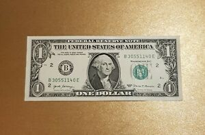 2 x One Dollar Bill Note  Birthday Gift, Wedding Favour. Uncirculated -NEW 🇺🇸