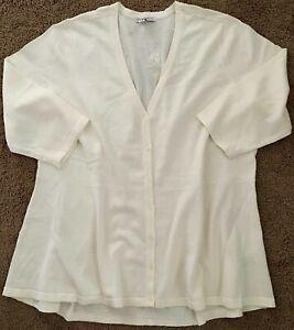 ISAAC MIZRAHI LIVE Women's 3X Cardigan Sweater NWOT Peplum V Neck 3/4 Sleeves