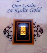 ACB Vertical FINE Gold 99.99 Pure 1GRAIN Bullion Bar. Certificate Authenticity $
