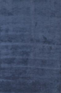 Contemporary Solid Gabbeh Modern Hand-knotted Oriental Wool Blue Area Rug 6'x8'
