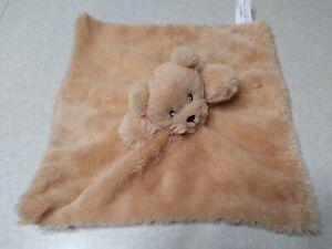 Baby Lovey Teddy Bear Security Blanket Honey Brown