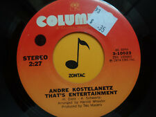 ANDRE KOSTELANETZ ~ That's Entertainment ~ 45's record JAZZ/EASY LISTN 1977 VG++