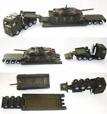 1/87 siku 1872 MAN ARMY/MILITARY TRANSPORTER + Leopard 2 A5 TANK metal Diecast