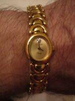 "VINTAGE WITTNAUER LADIES' WATCH WITH DIAMOND QUARTZ MOVEMENT - GOLD TONE 6 1/2"""