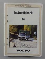 Instructieboek Volvo F4 LKW von 1983