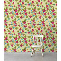 Removable wallpaper Tropical Flowers Floral Tropical Wall Covering Home Decor