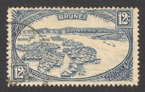 Brunei 1924-37 12c blue used SG 74 £8