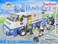 Free Shipping! BanBao Police Van & Motorcyle - 280 pieces - 4 figures - Age 5+