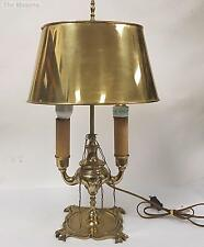 Antique Lucerne Solid Brass Oil Lamp Electrified with Solid Brass Shade 4 Spouts