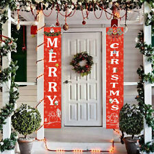 Merry Christmas Banner Outdoor Decoration Home Hanging Flat Xmas Party   1    AU