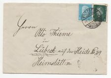 1932 GERMANY Cover ROITZSCH to LÜBECK SG425 SG428 Thieme