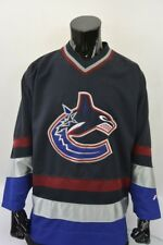NHL Official PRO PLAYER Vancouver Canucks Shirt Ice Hockey  Jersey SIZE L adults