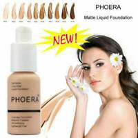 PHOERA Foundation Concealer Makeup Full Coverage Matte Brighten long-lasting UK