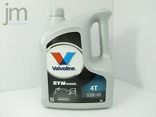 4L (4 Liter) VALVOLINE SYNPOWER Motoröl Öl SAE 10W-40 4T Motorcycle Oil