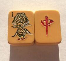 VINTAGE MAHJONG MAH JONGG CHINESE CATALIN BAKELITE Peacock Game Tiles