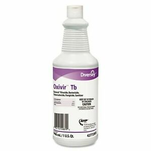 Diversey OXIVIR TB Health Care Disinfectant Cleaner Sanitizing 1 QT Bottle