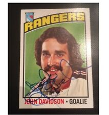 JOHN DAVIDSON SIGNED AUTOGRAPHED 1976 TOPPS CARD RANGERS