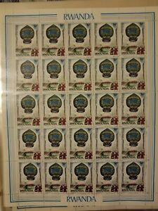 Rwandamontgolfiere 30 c sheet of 25 stamps MNH OG